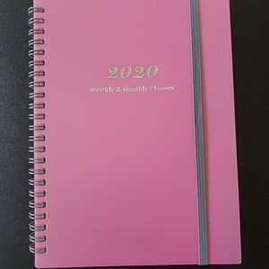 2020 Weekly & Monthly Planner Rose NEW